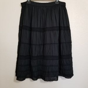 Lane Bryant Black Boho Skirt 18/20